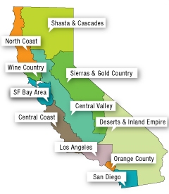 California Tourist Map