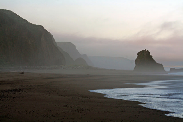 Sunrise at Irish Beach, Mendocino Coast, California